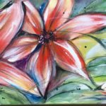 Florale Lichtblicke in dunkler Zeit | 30x90 cm