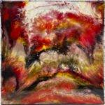 Rotes Universum | 50x50 cm