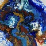 Strömung der Erde | 55,5x55,5 cm