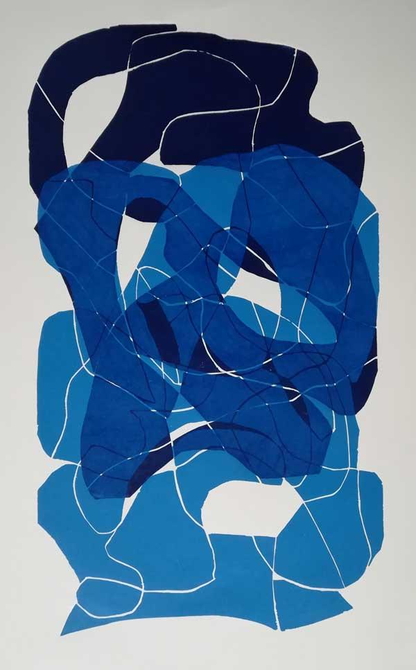 Cohaesionis I | Farbholzschnitt Unikat auf Bütten | Handabzug | 80 x 60 cm | 2020