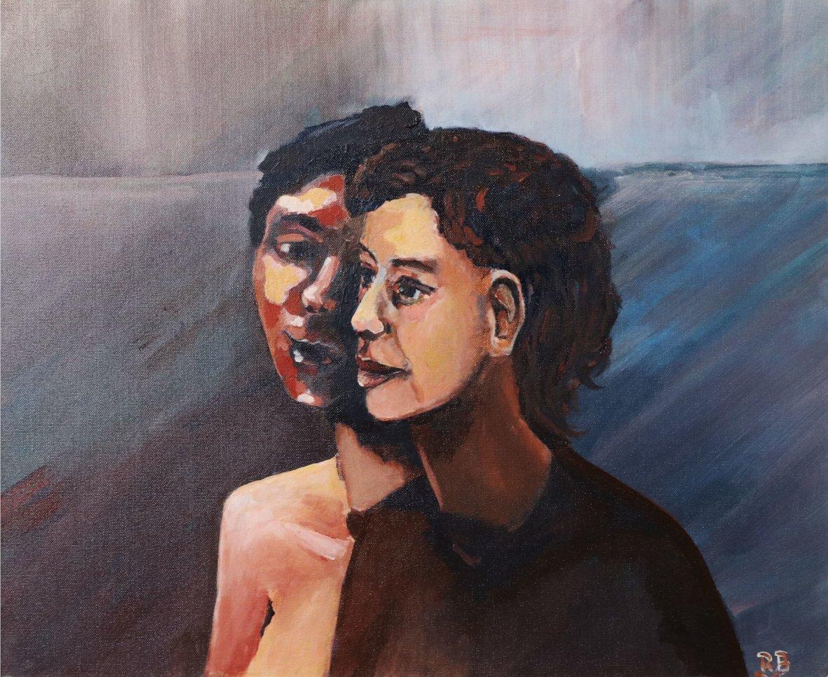 Rainer Bergmann | Innerer Dialog | Öl auf Leinwand | 50 × 60 cm | 2020
