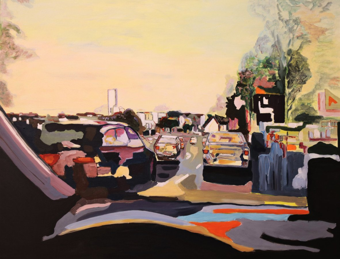 Rainer Bergmann | It´s home time | Acryl auf Leinwand | 80 × 100 cm | 2019