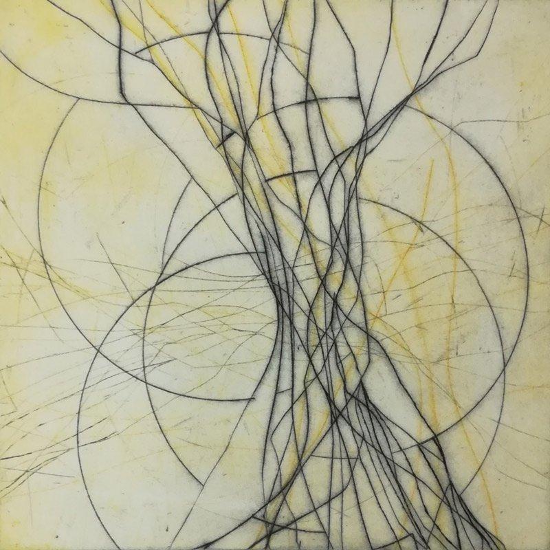 Marlis G Schill   Poetry 1, Radierung, 30 x 30, 1 Ex., 2020