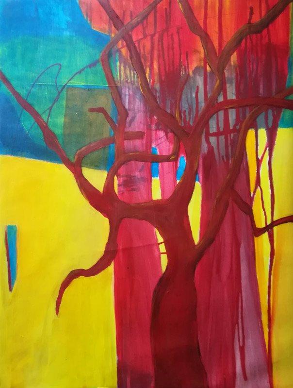 Marlis G Schill   Remembering Indian Summer, Acryl auf Leinwand, 60 x 45, 2020