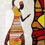 Ingrid Huober | Afrikanischer Tänzer | 120x40 cm