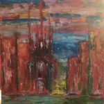 Monika Krautscheid-Bosse | Rote Kirche | 60x80 cm