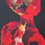 Annegret Poschlep | lady in red | 90x30 cm
