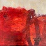 Ingrid Ruhl | Rapsodie in red | 90x90 cm
