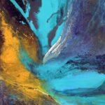 Gertrud Schneider | Blue planet | 100x70 cm