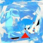 Dorothee Vermaaten | Blue Man Walking | 80x80 cm