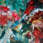 Karin Wenderlein-Gruber | Feuer im Universum | 45x45 cm